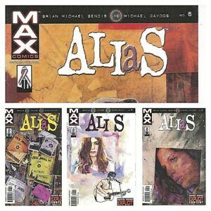°JESSICA JONES: ALIAS #6 - 9 B LEVEL 1 bis 4 von 4°US Max Comics 2002 B.M.Bendis