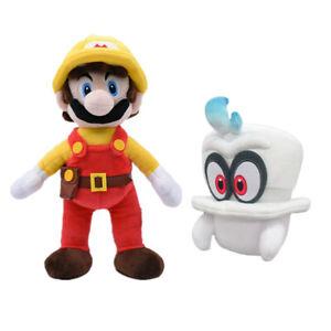 2pcs Super Mario Odyssey Cappy and Maker Mario Stuffed Plush Dolls Soft Toy Xmas