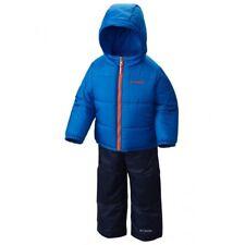Columbia Baby Boys 6-12 Months Winter Jacket & Snow Pants Set Blue Double Flake