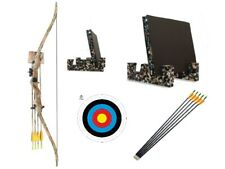 Junior Archery Camo Recurve Bow Set Youth Kit Arrows & Target Package