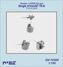 Niko modello 1/700 Russo/ussr ANTI AIRCRAFT GUN SINGOLO 37mm 67 70 K