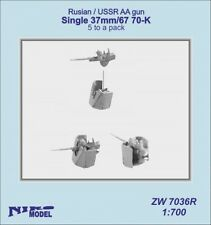 Niko Model 1/700 Russian / USSR Anti Aircraft Gun Single 37mm 67 70 K