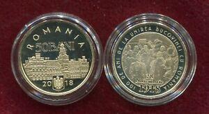 Romania 50 Bani  2018 100th Bucovina Bukowina Union ,rare Proof Coin