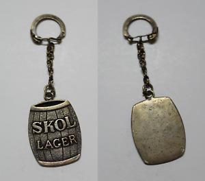 Keychain Skol Lager , Realised IN Silver 925. Years 70-80. 21 Grams