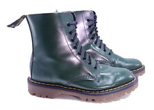 Solovair Dr. Martens Doc England Rare 80's Vintage Green 1460 Boots UK 6 US 8