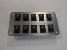 Schalterpanel 10x Ein-Aus Schalter Edelstahlblende matt NEU sehr klein