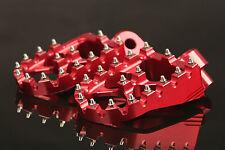 MX Dirt Pit Motorcycle Footpegs Foot Pegs Honda CR 125 250 CRF 150 250 450 Red