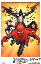 Greg Land Signed Marvel Comics Art Print Spiderman Spider Woman Venom Spidergirl
