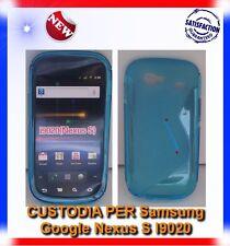 Pellicola+Custodia S-WAVE BLU per Samsung I9020 Nexus S (B4)