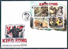CENTRAL AFRICA  80th ANNIVERSARY KING KONG FAY WRAY  BRUCE CABOT SHEET  FDC