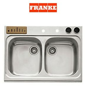 Franke Magnum Collection Double Bowl Undermount Kitchen Sink Only GNX720S NEW