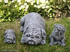 sculpture en pierre CARLIN CHIEN de Décoration jardin FIGURE ANIMALE STATUE