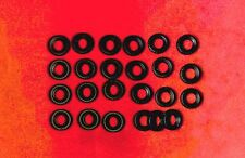 Small Treaded Tires for Dinky Toys, black, 15mm, Lot of 24
