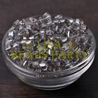 25pcs 6mm Cube Square Faceted Crystal Glass Loose Spacer Beads Clear Gray