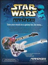 Fernandes 2002 Star Wars Series Darth Vader guitar ad 8 x 11 advertisement