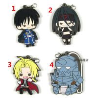 T692 Hot Anime Full Metal Alchemist rubber Keychain Key Ring Rare strap cosplay