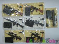FURUTA 1/6 GUN MANIA ASSAULT RIFLE SERIES , SET OF 7 PCS