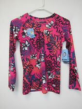 Reel Legends Keep It Cool top - Girls Large - Floral Pink + Grey - NWT