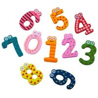 1X(Colourful Wooden Magnetic Numbers Fridge Magnet Toy,NUMBERS Educational Z2V3)