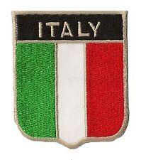 Patche fanion blason écusson drapeau patch Italie Italy thermocollant