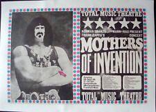 FRANK ZAPPA 1968 German A1 concert poster GUNTHER KIESER LINEN BACKED VERY RARE