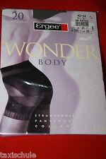 Ergee Wonder Body Nylons Mieder Strumpfhose Gr. 44 Sinfonie 20 Den Vintage