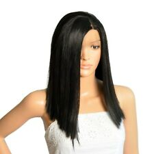 NWT ICENEL Medium Long Straight 14 inch Synthetic LaceFront Wig Off Black 1B 004