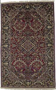 Classic Floral Design Hand-Knotted Vintage 6X10 Oriental Rug Home Decor Carpet