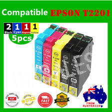 5X Ink Cartridge T220XL 220XL Generic Epson WF 2630 2650 2660 XP 420 220 320 424