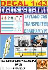 DECAL 1/43 LEYLAND CAR TRANSPORTER BRABHAM YPF REUTEMANN F2 TEAM 1971 (01)