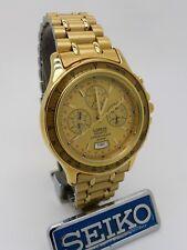 Vintage Lorus Quartz Chronograph Alarm N945-7A10 Mega Rare New Old Stock Ex Disp