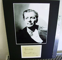 RONALD COLMAN EARLY MOVIE STAR  SIGNED AUTOGRAPH  DISPLAY UACC DATED 1919.SCARCE