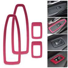 4x Red Door Window Switch Panel Trim Cover Fit For BMW 3 Series F30 F34 320 328
