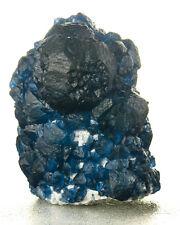 "1.4"" Curved Faces Indigo Blue FLUORITE Crystals on Quartz Huanggang for sale"