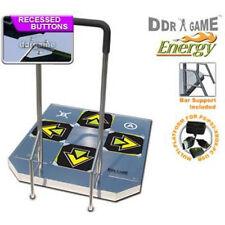 DDR USB Energy Arcade Metal Dance Pad XBOX 360  PS2 XBOX PC Wii W/ Handle Bars