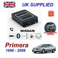 Fits Nissan Primera Music Streaming Bluetooth Telephone Charger SD AUX CD Module