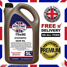 75W90 5L Fully Synthetic EP 75/90 Gear Oil Hypoid Oil 5 Litres GL-4 GL-5 MT-1