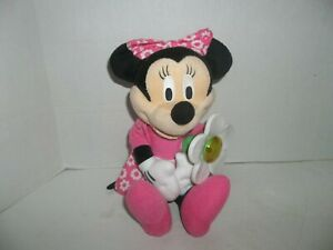 """2010 fisher price walt disney talking minnie mouse plush with daisy flower 13"""" t"""