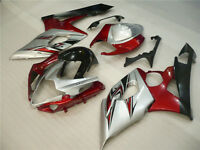 Fairing Injection Silver Red Black Bodywork Fit For Suzuki 05-06 GSXR 1000 K5 BG