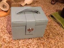 Women's blue JEWELRY BOX / CASE / STORAGE / ORGANIZER WITH TRAVEL CASE
