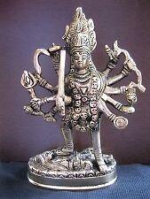 "Best 15.5"" Kali Maa Vaishno Mata Durga Panchdhatu Metal Murti Statue -Energized"