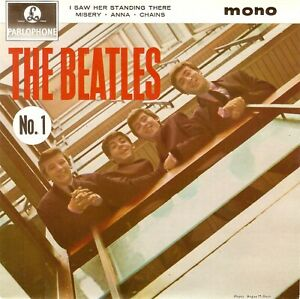 THE BEATLES The Beatles No. 1 EP Vinyl Record 7 Inch Parlophone Solid Centre Pop