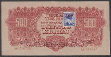 More details for czechoslovakia 1944 - 500 korun - specimen - banknote