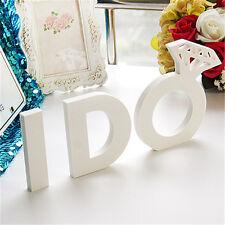 I DO Wooden Letters Set Alphabet Bridal Wedding Home Wood Word Decorations
