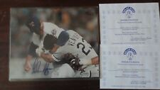 "NOLAN RYAN authentic signed 8x10  ""Fight with Ventura "" photo With COA"