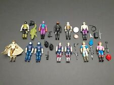 "COBRA LOT of 12 Vintage GI JOE 3.75"" Action Figures & Accessories"