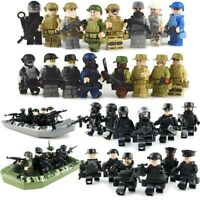 NEW WW2 Military SWAT Building Block Set World War Army Soldier Figures for Boys