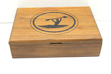 """7x10x3"""" Wood Jewelry Box Costume Asst'd Necklaces+Earrings+Pins Etc. Kayak"""
