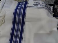 NEW,KOSHER Tallit /Talit /Tallis 100% Pure Wool Blue & Silver Adults/Bar Mitzvah