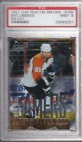 ERIC LINDROS 1997-98 LEAF FRACTAL MATRIX DIE CUT #168 PSA 9 GRADED